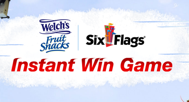 Play the Welch's Fruit Snacks Six Flags Instant Win Gamefor your chance to win free Six Flags tickets or 1 of 200 Welch's Fruit Snacks