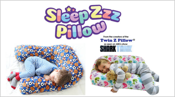 Enter for your chance to win a Sleep Zzz Pillow for kids. Each pillow comes with a washable and removable knit cover in a variety of patterns