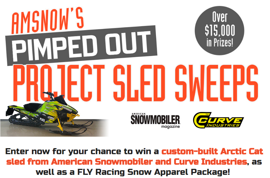 Enter now for your chance to win a custom-built Arctic Cat sled from American Snowmobiler and Curve Industries, as well as a FLY Racing Snow Apparel Package!