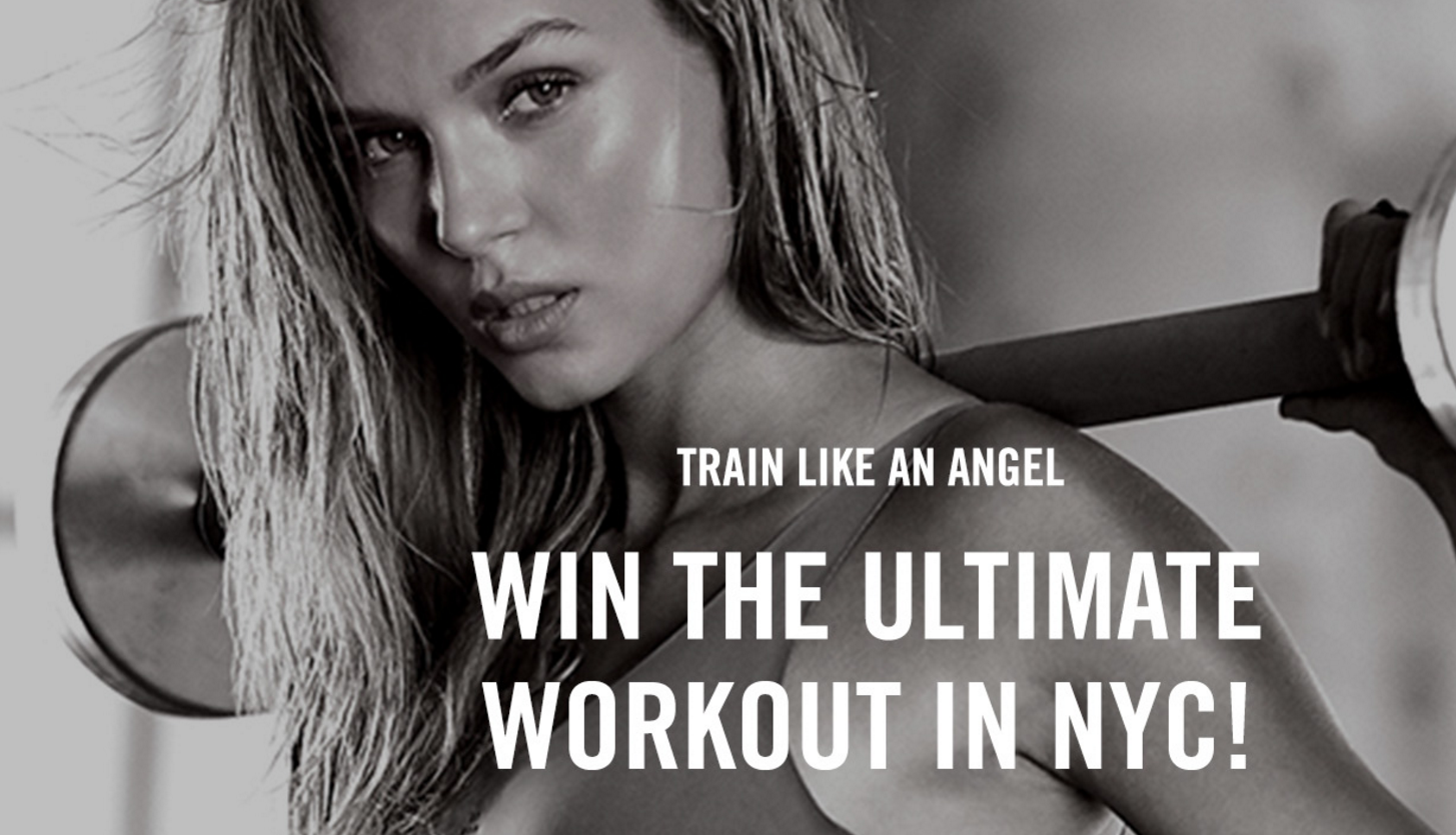 Enter for a chance to win workout sessions with Victoria's Secret Angel trainers in NYC for you and your girls PLUS giving away 50 more winners will each win a Train Like An Angel gift bag full of Angel-approved gear.