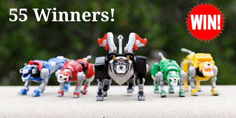 Enter today for your chance to win 1 of 55 DreamWorks Voltron Legendary Defender Die-Cast Metal Defender lions!