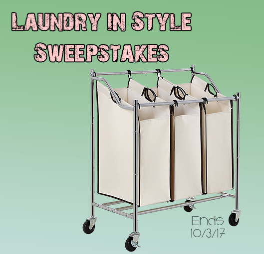 Enter for your chance to win aSONGMICS 3-Bag Rolling Laundry Sorter Car
