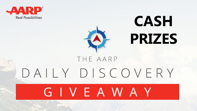 You're invited to play the AARP Daily Discovery Cash Instant Win Game!
