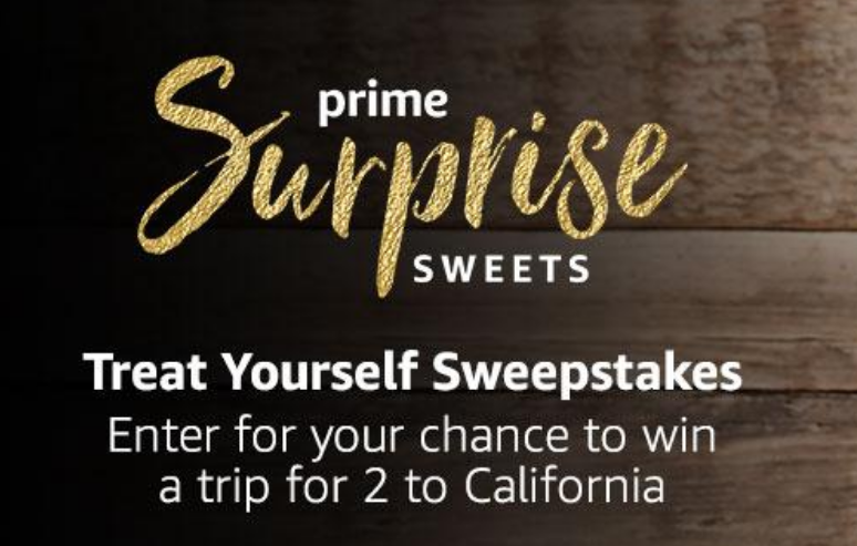 Share your favorite way to treat yourself and Amazon may treat you to the ultimate sweet retreat in California plus five randomly selected lucky entries will win a full year of Amazon Prime Surprise Sweets.