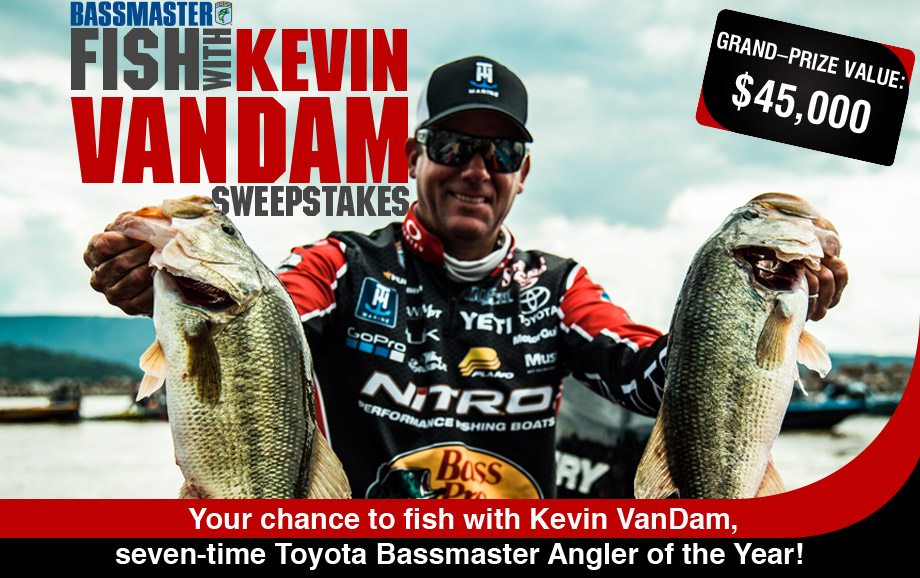 Enter for your chance to win a NITRO Z18 boat and get the opportunity to fish with Kevin VanDam