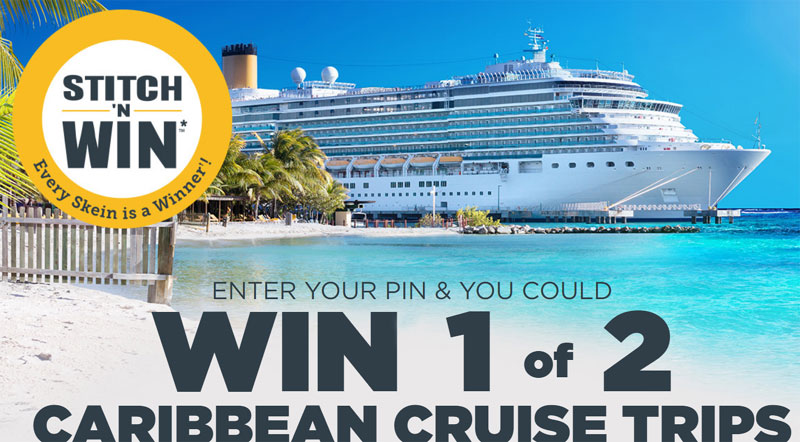 Enter to win 1 of 2 Caribbean Cruises, 1 of 20 $500 Visa gift cards, 1 of 50 $100 Michaels gift cards PLUS over 740,000 Bernat Yarn Discount Coupons