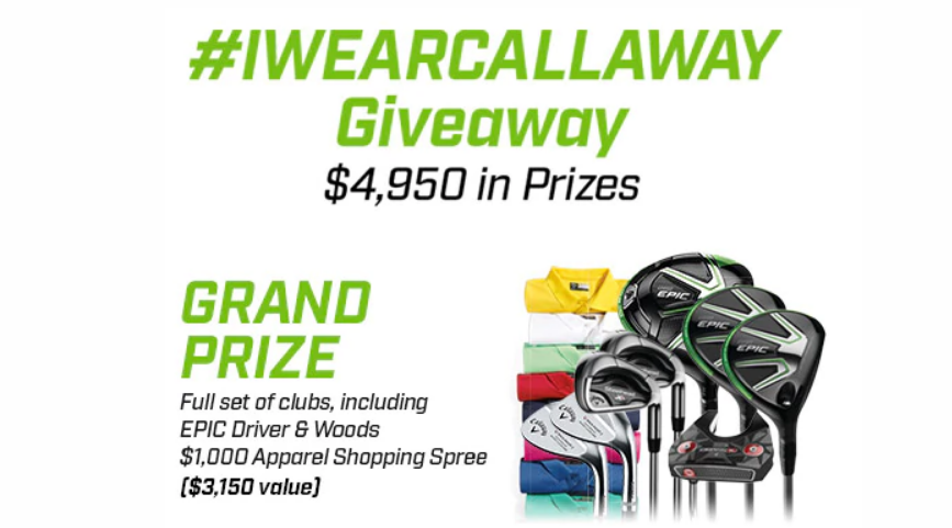 QUICK ENDING! Callaway #IWEARCALLAWAY Giveaway - Enter for your chance to win Callaway golf clubs and Callaway Golf Apparel shopping sprees