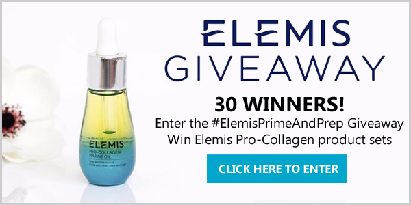 30 WINNERS! Enter the #ElemisPrimeAndPrep Giveaway for a chance to win 1 of 30 coveted product sets from Elemis