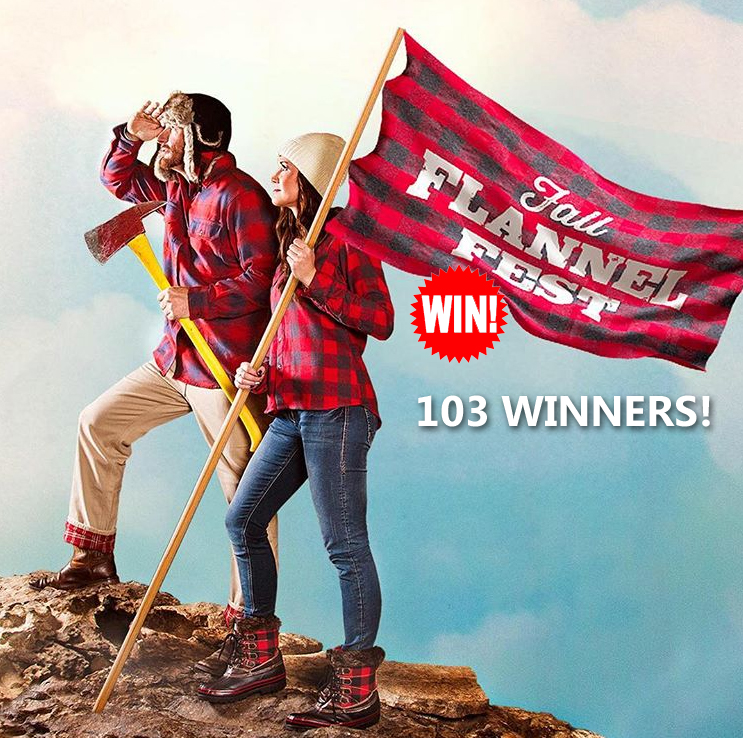 Are you a Flannel Fanatic?! Share your love of flannel with the tag #FlannelFanatic and you could win a $300 Bass Pro gift card or 1 of 100 other prizes!