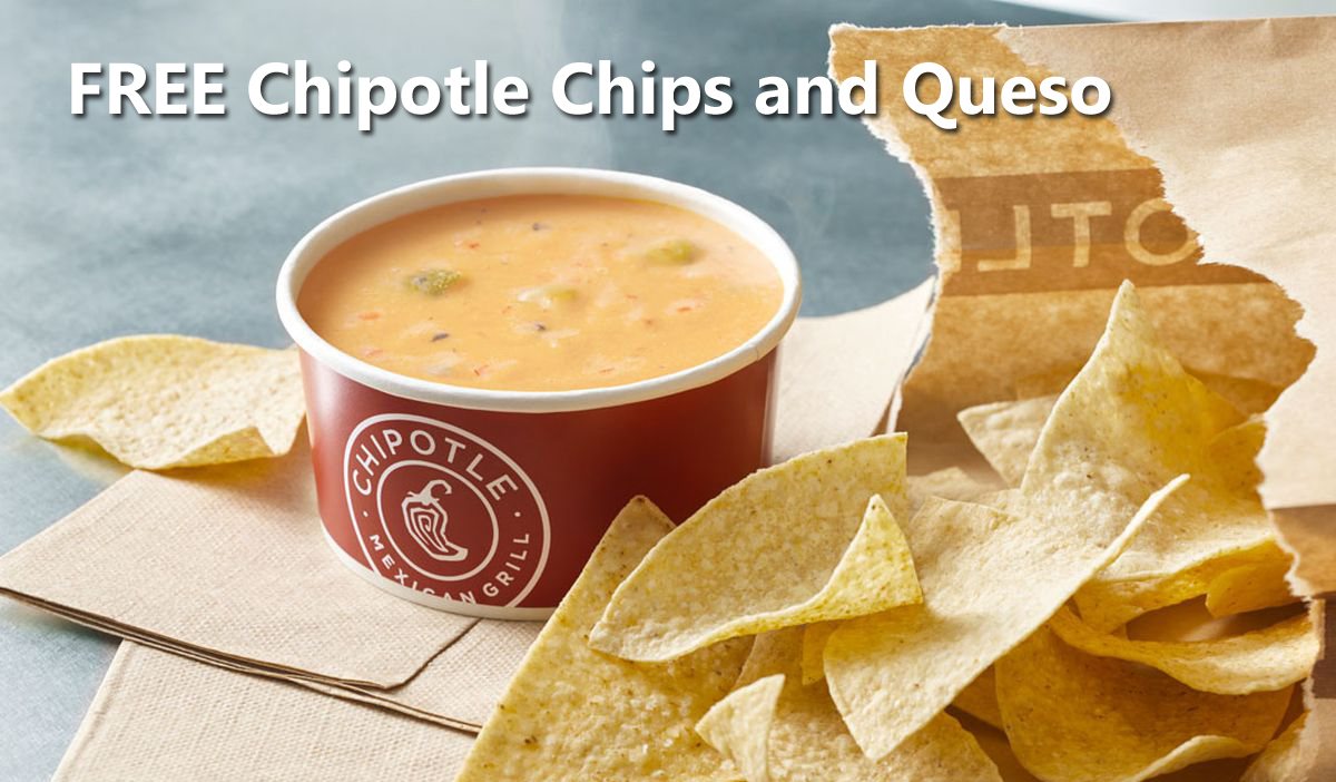 75,000 WINNERS! Chipotle is giving away FREE Chipotle Chips and Queso coupons