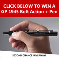 Enter to win a GP 1945 Bolt Action Plus Pen with an estimated value of $50!
