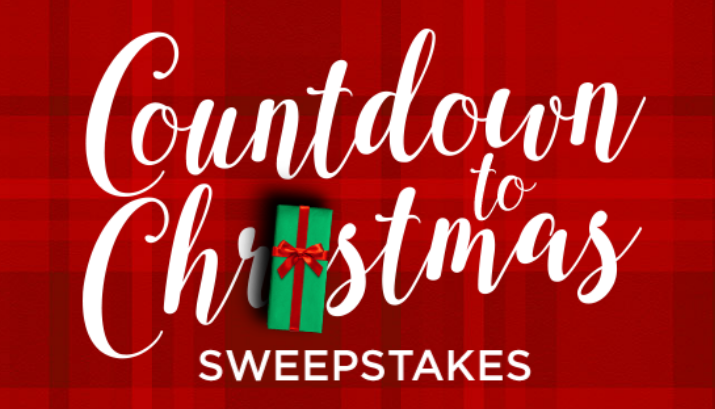 Hallmark Channel Countdown to Christmas Sweepstakes - win 1 of 4 trips