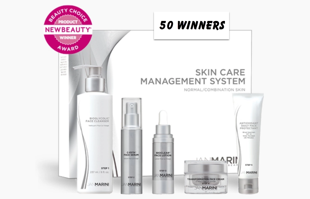 SheFinds.com is giving away50 Travel Size Jan Marini Skin Care Management System Kits