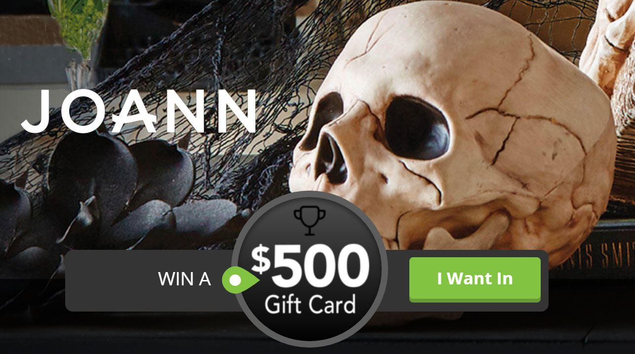 Sign up and be fast to grab your spot to win a JOANN gift card in the Quikly giveaway