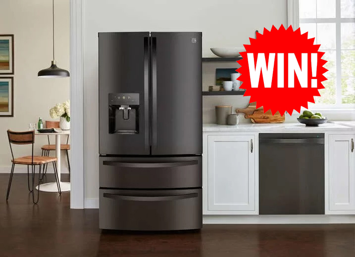 Enter for your chance to win a new refrigerator and matching range from the Kenmore brand!
