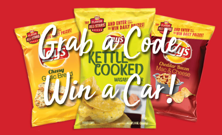 Grab a Lay's code and you could win a car or $32,000 in cash (or a daily prizes)