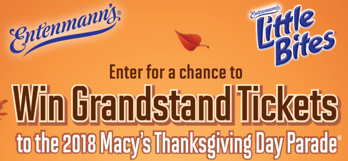 Enter for your chance to win grandstand tickets, and a trip to attend the2018 Macy's Thanksgiving Day Parade in New York, NY