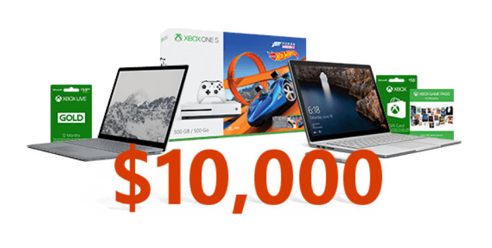 Get to know Microsoft Office and you could win one of 750 prizes including incredible prizes like an Xbox One S, a Surface Book or $10,000!