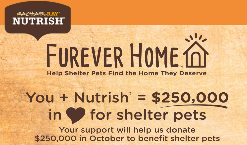 Enter for your chance to win $25,000 in cash PLUS Free Nutrish dog or cat food for a year!