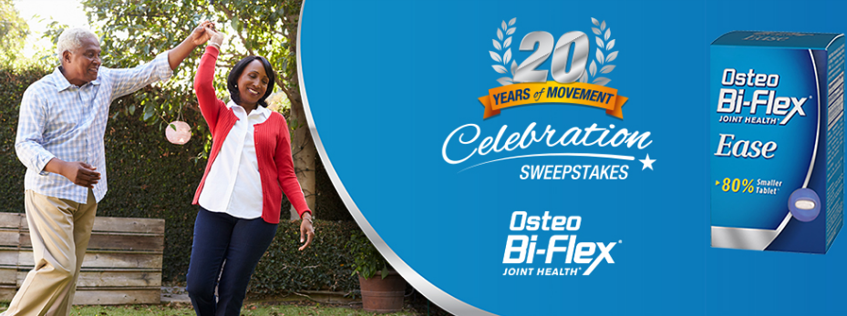 Share a photo of how you live your life to the fullest with the passion that gets you moving every day for the chance to win the Grand Prize of a 7-day trip to Charleston, SC or a First Prize of an Osteo Bi-Flex® Prize Pack.