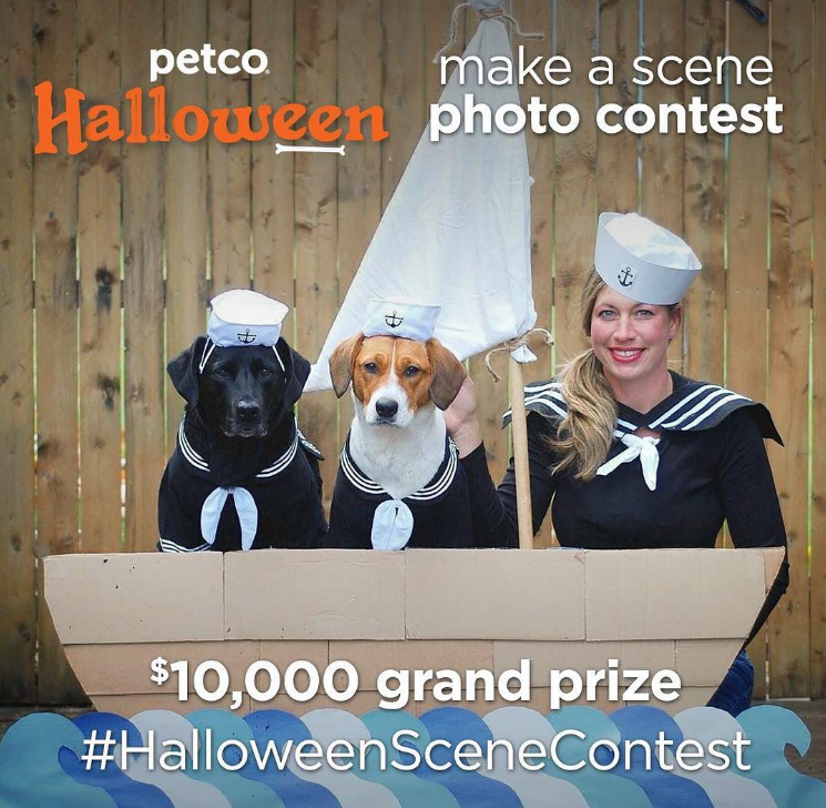 Enter to win $1,000, $3,000 or even $10,000 in Petco's Halloween Pet Costume Contest