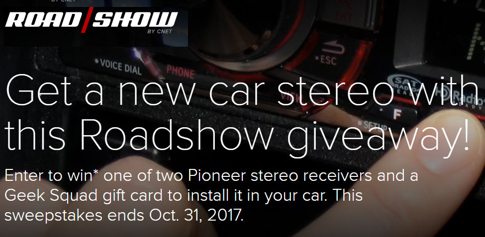 Need a stereo upgrade? Now is your chance to win Android Auto or Apple CarPlay from CNET.com Roadshow's smart car stereo sweepstakes.