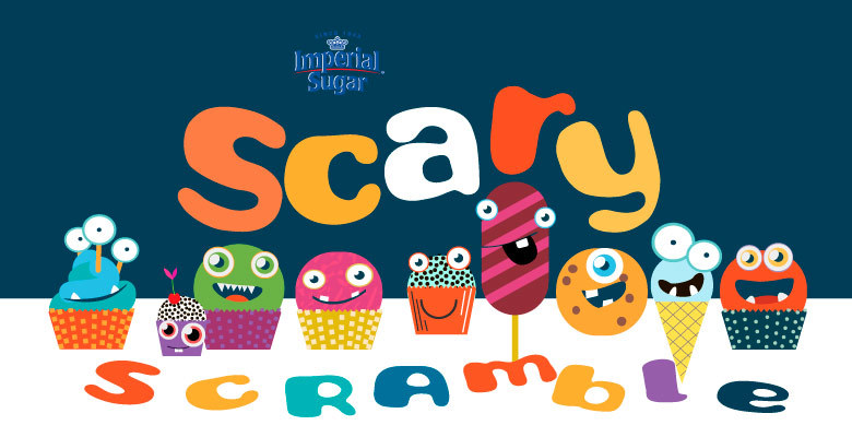 Get Imperial Sugar and Dixie Crystal's Scary Scramble locations daily for your chance to win 1 of 200 Halloween prizes