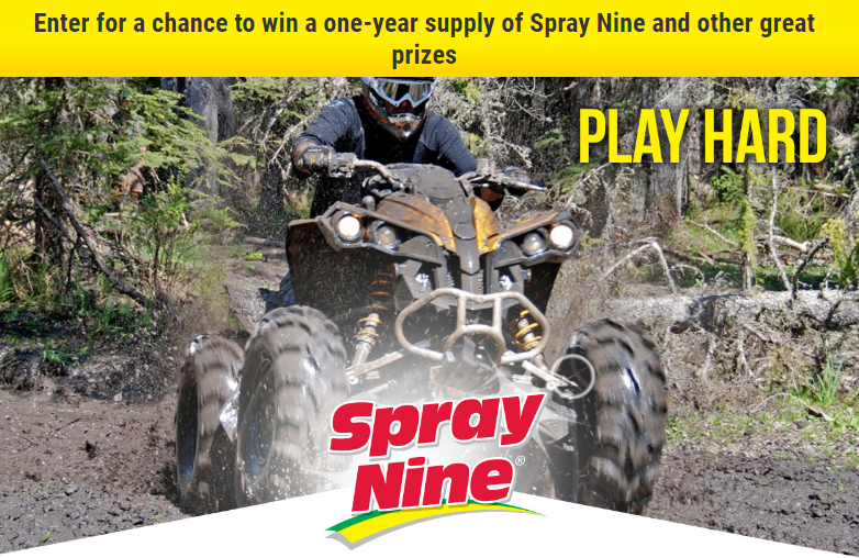 Enter for a chance to win a one-year supply of Spray Nine and 7,000 other great prizes
