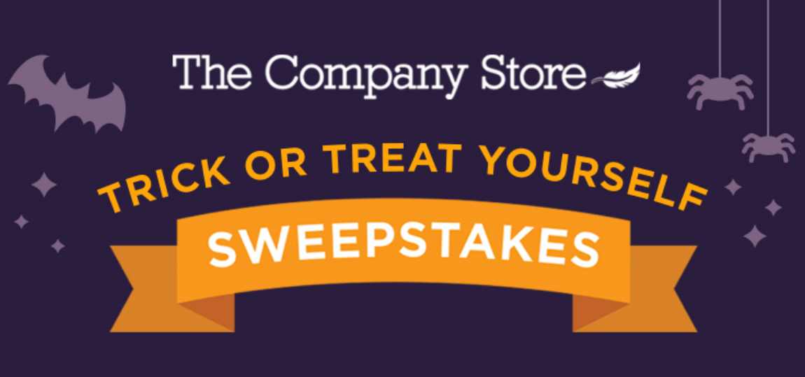 Enter the The Company Store Trick Or Treat Yourself Sweepstakes for your chance to win 1 of 4 $250 The Company Store gift cards