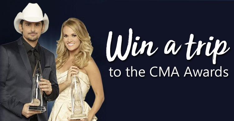 Enter to win a trip for four to Nashville, Tennessee to attend the CMA Awards in November
