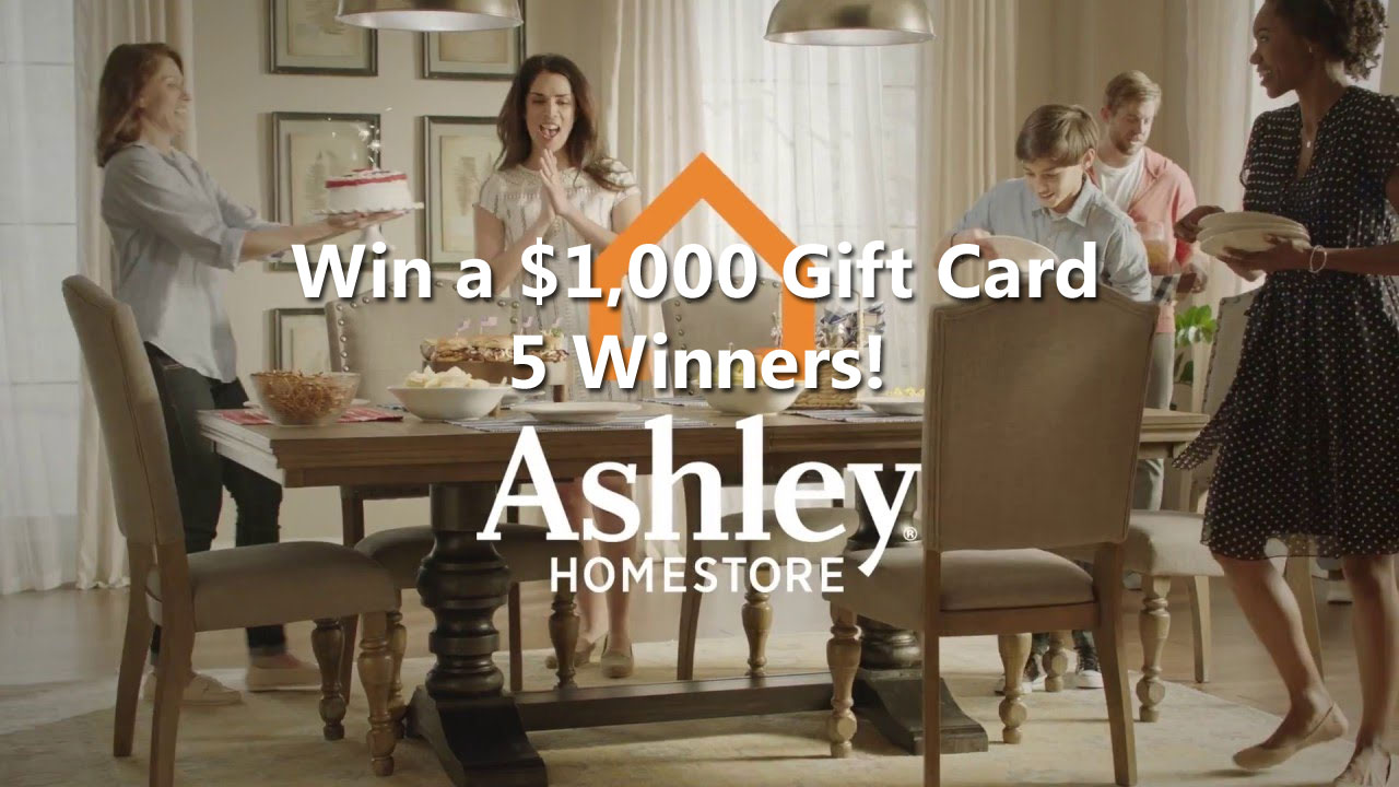 Enter for your chance to win one of five $1,000 shopping sprees from Ashley HomeStore and Bob Vila