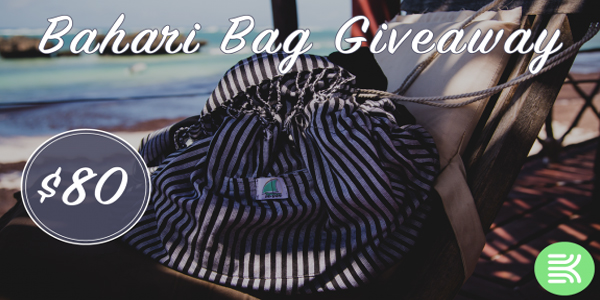 one winner will receive a Bahari Bag