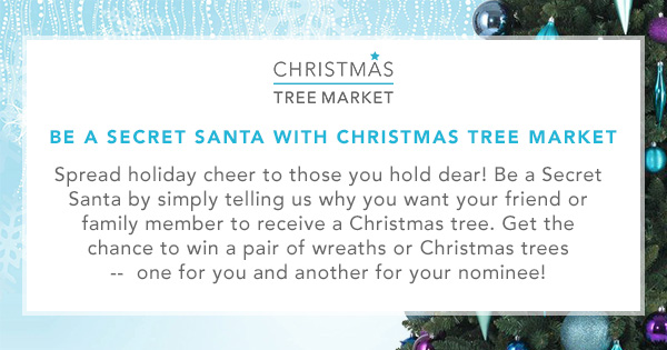Nominate someone to win a Christmas tree or a Christmas wreath