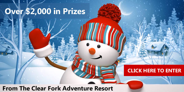 Enter to win over $2,000 in prizes from The Clear Fork Adventure Resort! Clear Fork Adventure Resort is situated on 175 private acres in Butler, Ohio.
