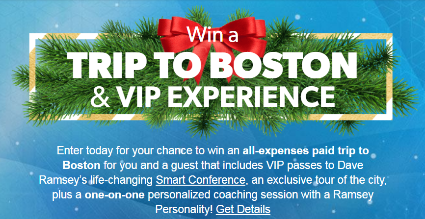 Who loves Dave Ramsey? Enter to Win a VIP Experience to Smart Conference in Boston with Dave