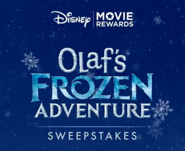 Enter for your chance to win 1 of 331 Disney Olaf Frozen prizes. Get one entry free and then use your DMR points or send entries in the mail to get extra entres