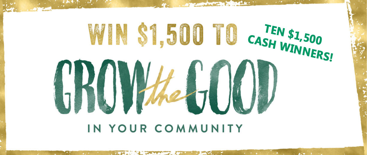 Life is Good is giving away $1,500 to 10 people to make it happen!And thanks to their friends atEastern Bank,$1 will be donated to theLife is Good Kids Foundationfor each#GROWtheGoodentry received.