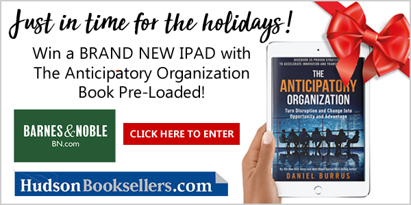 Win a BRAND NEW IPAD with The Anticipatory Organization Book Pre-Loaded valued at $450.00