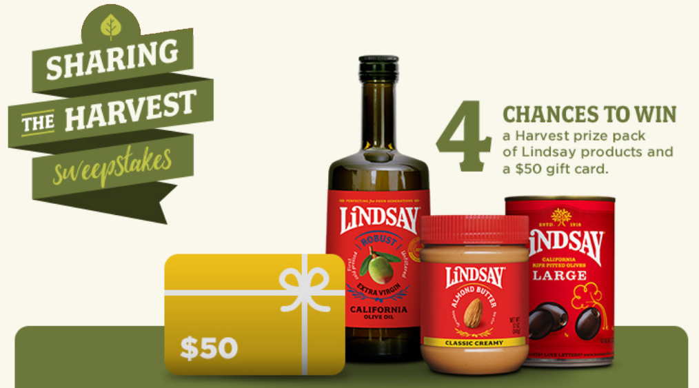 Enter for your chance to win a$50 Visa gift card and a Harvest product pack - weekly winners
