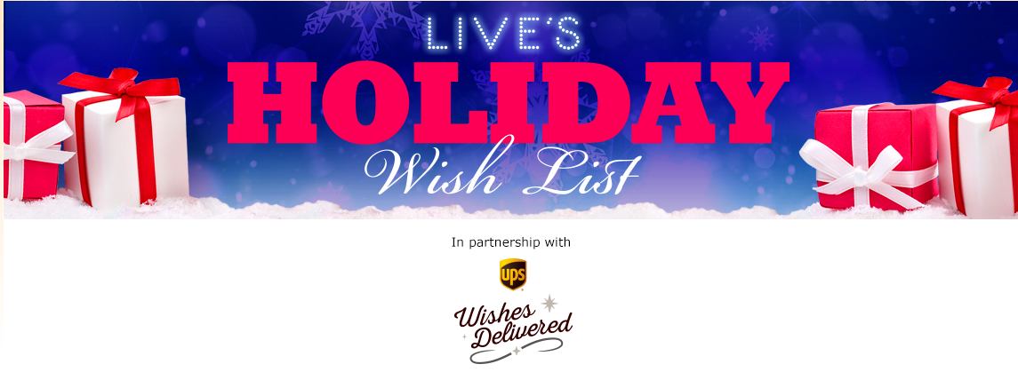 LIVE's Holiday Wish List $20,000 Contest