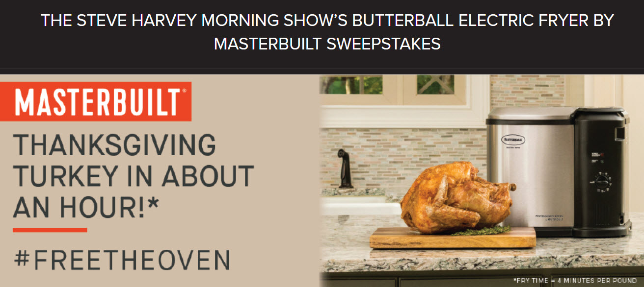 Enter for your chance to win one of 10 Butterball Electric Fryers by Masterbuilt! Plus, one lucky Grand Prize winner will win a $1,000 cash gift card for a food shopping extravaganza!