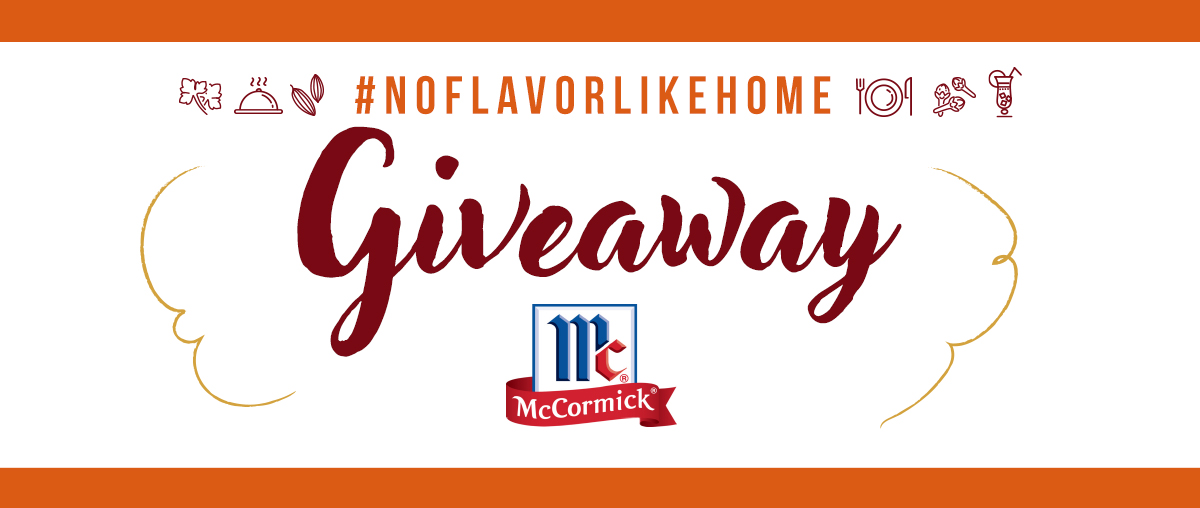 Enter the McCormick #NoFlavorLikeHome giveaway by sharing your family's favorite dishes and you could win a McCormick prize pack!