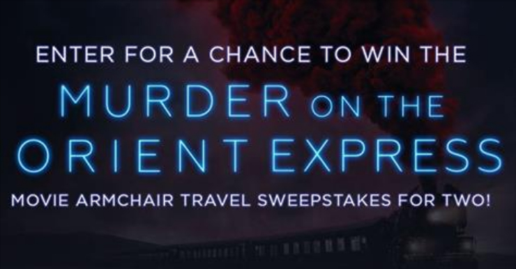 HarperCollins is giving away a big bag of Murder on the Orient Express Swag worth over $3,700