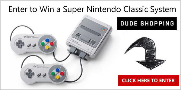 Enter for your chance to wina Super Nintendo SNES Classic Edition from Dude Shopping.
