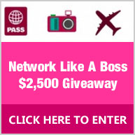 "Enter for your chance to win a ""Network Like a Boss"" Prize Pack valued at $2500 that includes an all expenses paid trip to one Forte College Leadership Conference of the winner's choice"