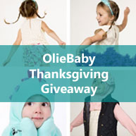 Don't miss the OlieBaby Thanksgiving giveaway for a chance to win beautiful baby and kids products! Enter for a chance to win a Minkey of your choice and a OlieBaby shop gift card valued $100!