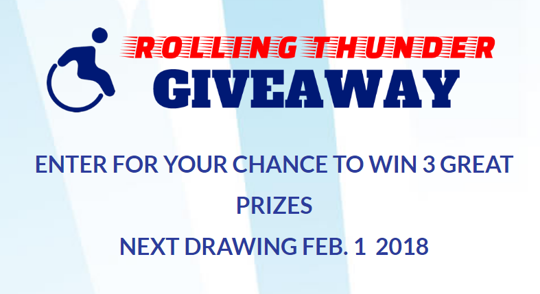 Enter for your chance to wina New ROHO AirLITE Wheelchair Cushion and Other Great Prizes.Are you a person living with disability? Do you use a Wheelchair? RollingThunderGiveAway.com was made for you.