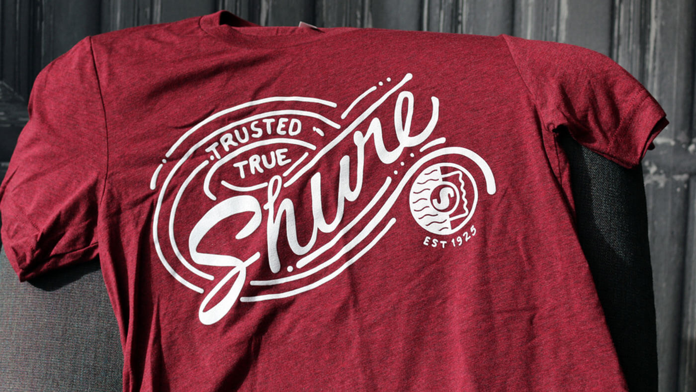 Hurry! Ends November 6! Shure is giving away 100 Shure t-shirts!
