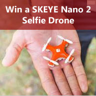 Enter for your chance to win aSKEYE Nano 2 FPV drone, one of the most advanced mini-drones on the market.