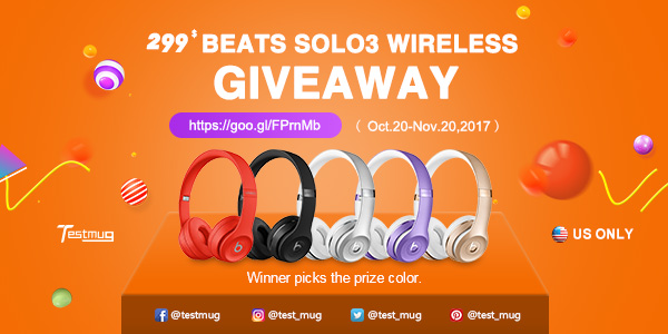 Enter for your chance to win a pair ofBeats Solo3 Wireless Headphones valued at $299 in the winner's choice of color